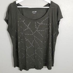 Apt.9 Studded Design Shirt